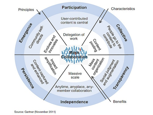 Six core principles of community participation according to Gartner